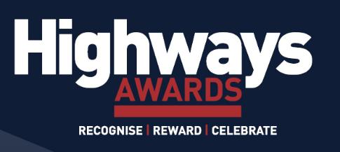 Highways Awards logo